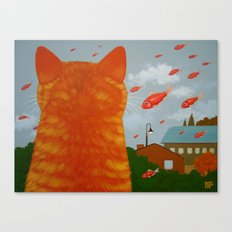 RAINING FISH Canvas Print