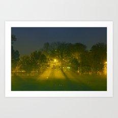 Foggy Night Art Print