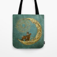 Moon Travel Tote Bag