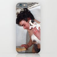 iPhone & iPod Case featuring Cat in bathroom by bearandvodka