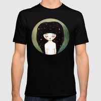 I Am The Cosmos Mens Fitted Tee Black SMALL