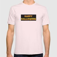 happy halloween Mens Fitted Tee Light Pink SMALL