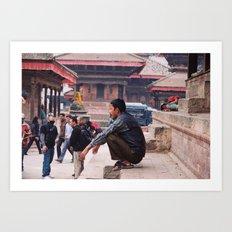 Kathmandu - Tibetan Temple Art Print