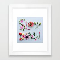 Botanical Font Framed Art Print