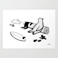 After Surf Art Print
