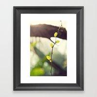 Green Leaves Framed Art Print