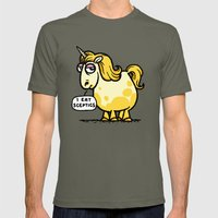 Overweight Unicorn Mens Fitted Tee Lieutenant SMALL