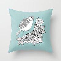 Bird II Throw Pillow