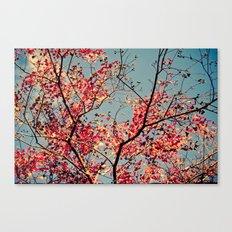Autumn Branch & Leaves Canvas Print