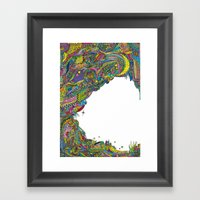 Night Sky To Look From T… Framed Art Print