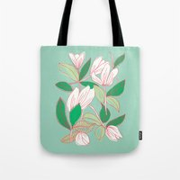 Floating Tulips (mint Gr… Tote Bag