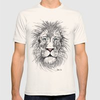 Cool Cat Mens Fitted Tee Natural SMALL