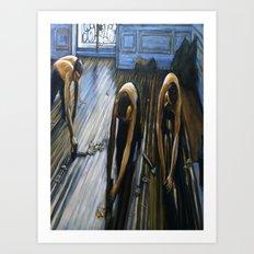 Floor Scrapers Art Print