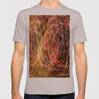 Lightpainting Mens Fitted Tee Cinder SMALL