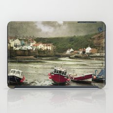 Staithes From The Harbour. iPad Case