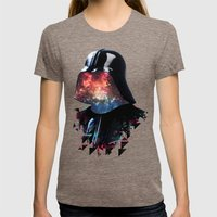 THE DARTH FATHER Womens Fitted Tee Tri-Coffee SMALL
