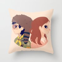 Sam and Suzy Throw Pillow