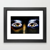 Fire Eyed Framed Art Print