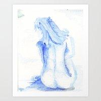 Little Blue Nude Art Print