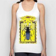 Yellow Sunflower & Blue-… Unisex Tank Top