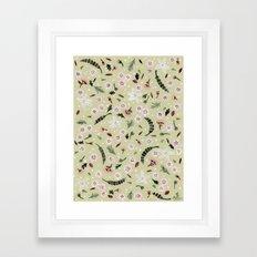 Little Flower pattern Framed Art Print