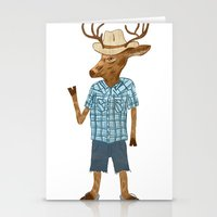 Country deer Stationery Cards