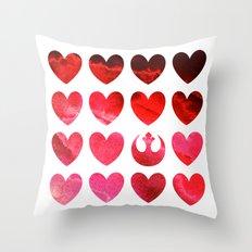 Star Wars Rebel Alliance Valentine Throw Pillow
