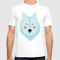Winter Wolf  Mens Fitted Tee White SMALL