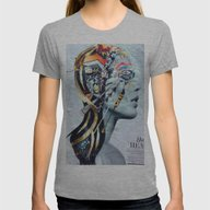 Modern Cleopatra Womens Fitted Tee Athletic Grey SMALL