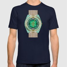 Glass Watch Mens Fitted Tee Navy SMALL