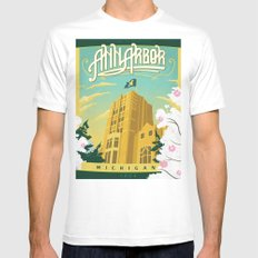Ann Arbor Union Mens Fitted Tee White SMALL