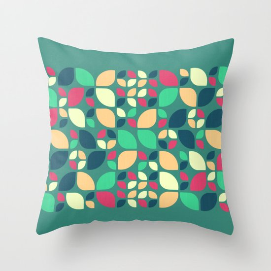 Vintage Spring Pattern II Throw Pillow