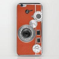 Tangerine Tango retro vintage phone iPhone & iPod Skin