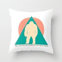Samsquanch. Throw Pillow