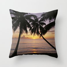 Tropical Sunset, Mahe Is… Throw Pillow