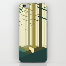 Lonely wolf iPhone & iPod Skin