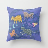 Astrocats Throw Pillow