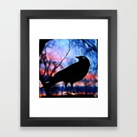 Good Morning Raven Magic Framed Art Print