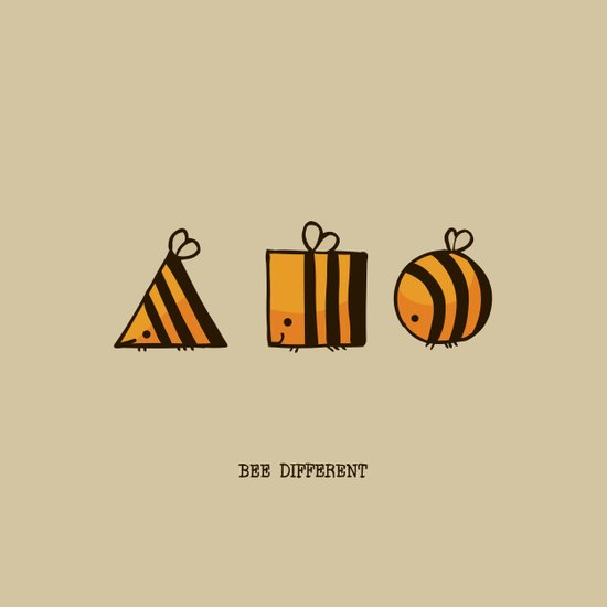 BEE DIFFERENT Art Print