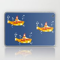 Fabric Yellow Submarine Laptop & iPad Skin