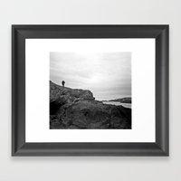 Man On The Mountain Framed Art Print