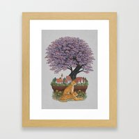 Bonsai Village Framed Art Print
