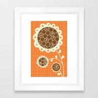Retro Sunshine Bouquet Framed Art Print