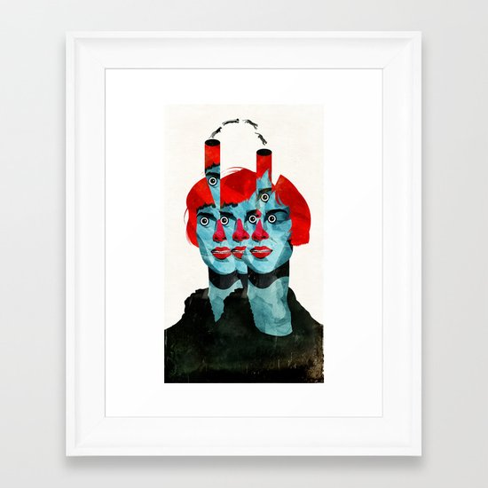 The cats in my head Framed Art Print