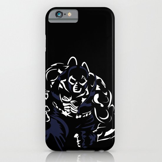 Bane's Fight in Blue and White iPhone & iPod Case