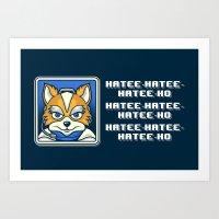 What Does Fox McCloud Say? Art Print