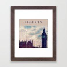 Vintage Big Ben • Lond… Framed Art Print