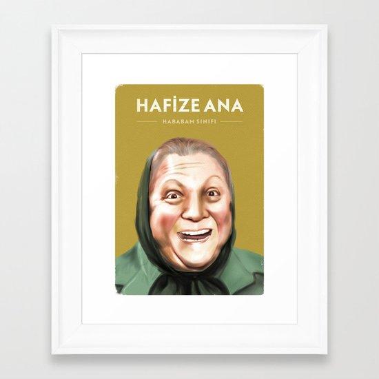 Hafize Ana - Hababam Sınıfı Framed Art Print