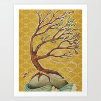 Four Seasons Tree Art Print