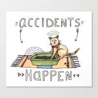 Accidents Happen Canvas Print